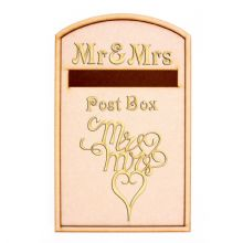 Wedding Post Box Mr&Mrs Design - Opening Wooden 3mm MDF Party - Flat Pack